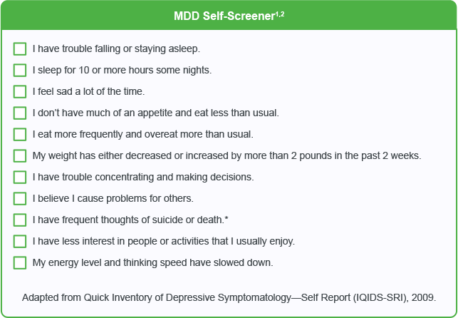 MDD Self Screener